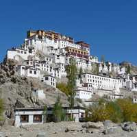 Monastery on the Mountaintop in Ladakh, India