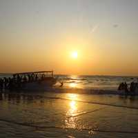 Sunset at Malpe Beach in India