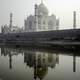 Taj Mahal from the Northern Bank of river Yamuna in India