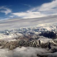 Top of the Himalayan Mountains from India