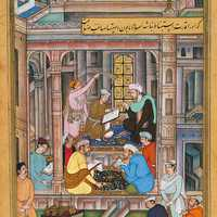 Writing the will and testament of the Mughal king in India