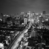 Cityscape of Central Jakarta in Indonesia