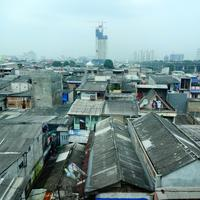 Cityscape of Jakarta, Indonesia with lots of buildings