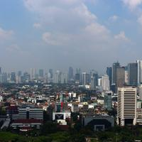 Jakarta cityscape and skyline in Indonesia