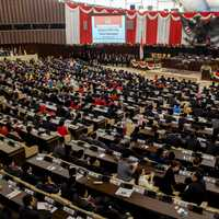 Inauguration of Indonesian President by People's Consultative Assembly in Jakarta- Indonesia