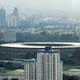 View of the city and Bung Karno Stadium in Jakarta, Indonesia