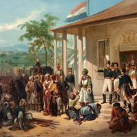 End of the Java War in 1830 in Indonesia