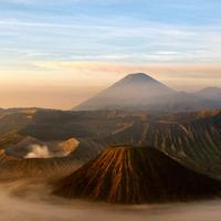 Landscape of Mount Bromo on the Island of Java, Indonesia