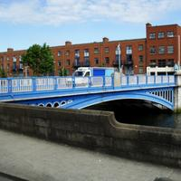 Metal Blue Bridge in Dublin