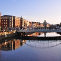 The bridge across the river in Dublin