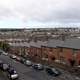 Bogside area viewed from the walls in Derry, Ireland