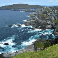 Cliffside landscape on the coast of ireland
