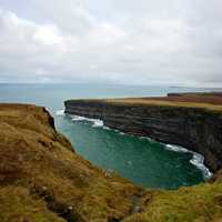 Coastline on the Cliffs landscape and ocean in Ireland