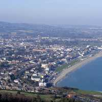 Overview of the town from Bray Head, Ireland