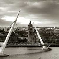 Peace Bridge in Derry, Ireland