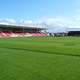 Shamrock Park Stadium in Portadown, Ireland