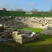 The first ancient theatre of the city in Larissa, Ireland