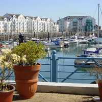 The marina complex in Carrickfergus in Ireland