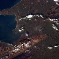 Tralee as seen from the International Space Station in Ireland