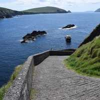 Walkway down to the Sea in Ireland