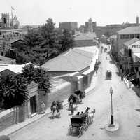 Jaffa Road in the 19th century in Jerusalem, Israel