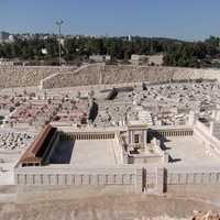 Jerusalem Model with Temple of Herod in Israel