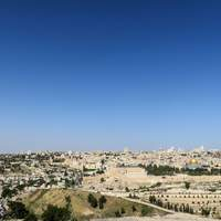 Overview on a hill of the City of Jerusalem