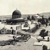 Solomon temple as of before 1910 in Jerusalem, Israel