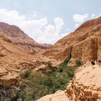 Canyon Landscape in Ein Gedi Reserve in Israel