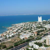 Cityscape and Urban Shoreline in Haifa, Israel