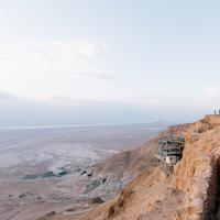 Landscape from the top of the Mountain in Masada National Park, Israel