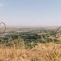 Landscapes and farms at Bental, Merom Golan, Israel