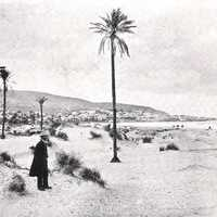 Mount Carmel before 1899 in Haifa, Israel