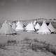 Tents in the Desert in Holon, Israel