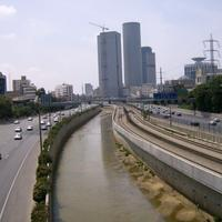 Highway into Tel-Aviv, Israel