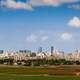 Skyline with towers and sky in Tel-Aviv, Israel