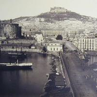 The port of Naples in the 1800s