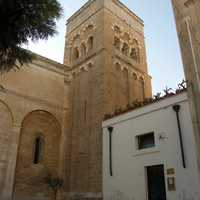 Bell tower of the church of San Benedetto in Brindisi, Italy
