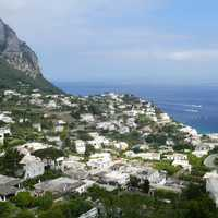 Capri Italy, a town by the sea