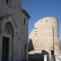 Church of San Bartolomeo and tower in Campobasso, Italy