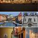 Collage of Trieste with landmarks in Italy