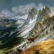 High Mountains landscape of the Dolomites, Italy