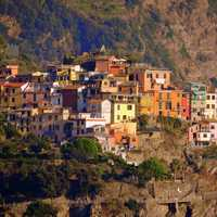Houses on the Mountain in  Corniglia, Italy