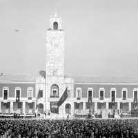 Inauguration of Littoria in 1932 in Latina, Italy