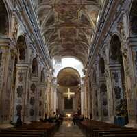 Inside the Cathedral of Santa Maria in Caltanissetta, Italy