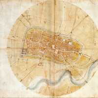 Leonardo da Vinci's map of Imola, Italy in 1502