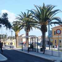 Manfredonia railway station in Italy