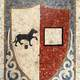 Mosaic of the old city Coat of Arms of Piacenza, Italy