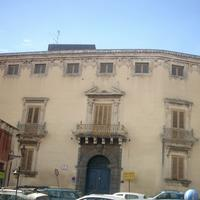 Musmeci Palazzo, located in Piazza San Domenico in Acireale, Italy