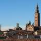 Panorama of Cremona in Italy